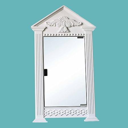 Corner Medicine Cabinet White Urethane 2-Shelf Mirror Primed Wall Mount Hardware Included Easy Paint