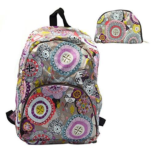 Wasserdichte faltbare Rucksack faltbar Schule Studenten Umhängetasche Reisen im freien Trendsportarten Wandern Tasche grau rosa