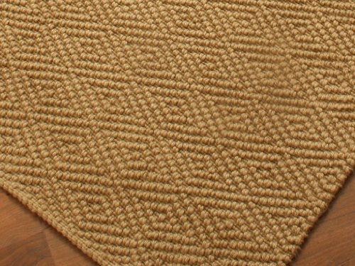 """Jewel"" Jute Natural Fiber Rug (Diamond Pattern Design) 6' x 9' - Hand Woven, Reversible"