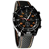 Cool Men's Racer Military Pilot Aviator Army Silicone Sports Watch (Color: Black-1, Tamaño: 2%)