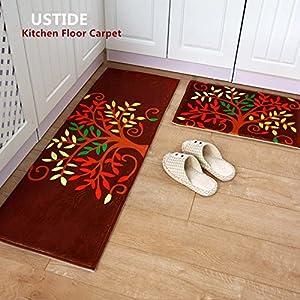 Amazon Com Ustide 2 Piece Kitchen Rugs Set Super Soft