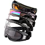 DPLUS Motorcycle Goggles - Glasses Set of 5 - Dirt Bike ATV Motocross Anti-UV 400 Adjustable Riding Offroad Protective Combat Tactical Military Goggles for Men Women Kids Youth Adult (M) (Tamaño: Medium)