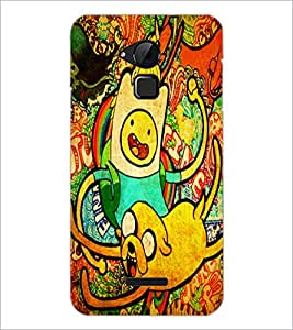 PrintDhaba Graffiti D-4843 Back Case Cover for COOLPAD NOTE 3 LITE (Multi-Coloured)