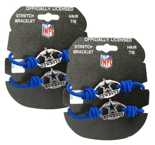 Dallas Cowboys - NFL Stretch Bracelets / Hair Ties (2-Pack) at Amazon.com