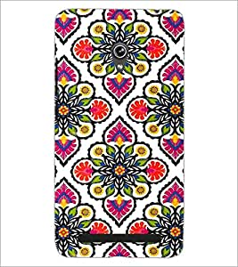 PrintDhaba Floral Design D-2045 Back Case Cover for ASUS ZENFONE 6 A601CG (Multi-Coloured)