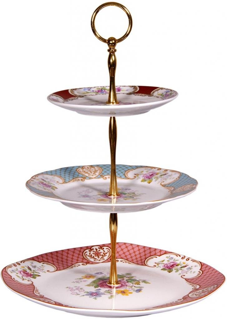 3-tiered Porcelain Serving Trays