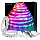 LED Strip Lights, Govee 32.8ft Waterproof Color Changing Light Strip Kit with Remote, Bright 5050 LEDs and Strong 3M Adhesive, Colored Rope Light for Room, Bedroom, Kitchen, Yard, Corridor Decoration (Color: Rgb (Red, Green, Blue), Tamaño: 32.8 Feet)