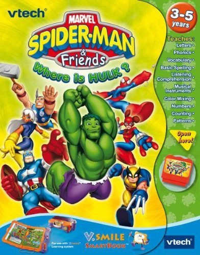 VTech V.Smile Smartbook - Marvel Spider-Man and Friends: Where's the Hulk? (Software Cartridge) - 1