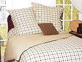 Park B. Smith Eco Vegetable Check Comforter Set Natural/Bark/Celadon King