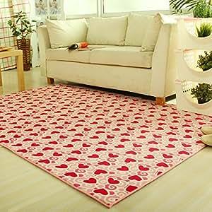 ustide pink carpet for girls bedroom heart