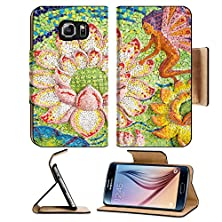 buy Msd Samsung Galaxy S6 Flip Pu Leather Wallet Case Art Of Glazed Tile Lotus And Fairy On Sanctuary Wall In Ban Rai Temple Korat Image 32982340 Luxur