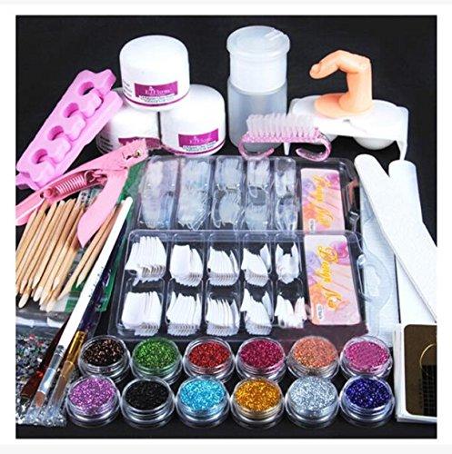 nail-artvovotrade-acrylic-nail-art-false-finger-pump-clipper-brush-set-kits-24pc