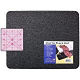 """Stay-In-Place Sewing Machine Mat - 15"""" x 18"""" - Reduces: noise, vibration and machine movement. Made In USA!"""