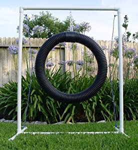 Football Passing Accuracy Tire Ring for Drills by Weave-Poles.com, LLC