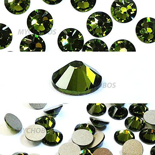 OLIVINE (228) khaki green Swarovski NEW 2088 XIRIUS Rose 34ss 7mm flatback No-Hotfix rhinestones ss34 18 pcs (1/8 gross) *FREE Shipping from Mychobos (Crystal-Wholesale)*