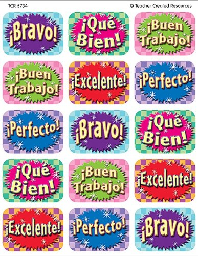 Teacher Created Resources Good Work (Spanish) 90 Jumbo Stickers, Multi Color (5734)