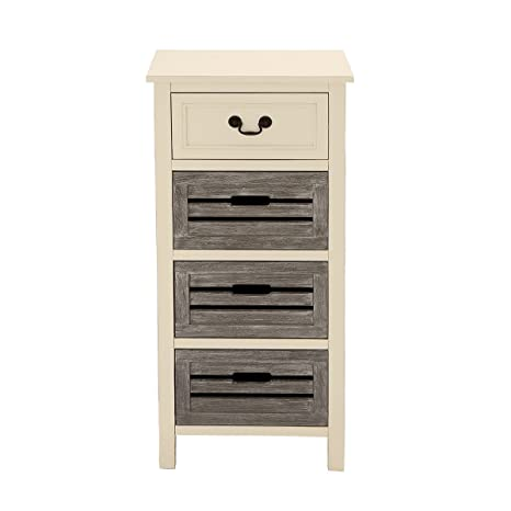 Urban Designs Cape Cod Two-Tone 4-Drawer Storage Chest Night Stand