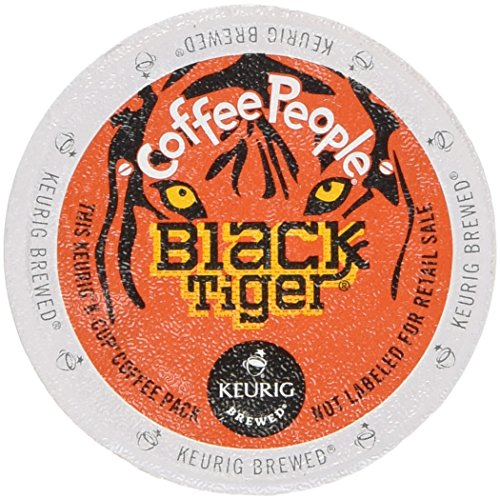 48 Count - Coffee People Black Tiger Dark-Roasted Extra Bold Coffee K-Cup For Keurig Brewers (Tiger Coffee compare prices)