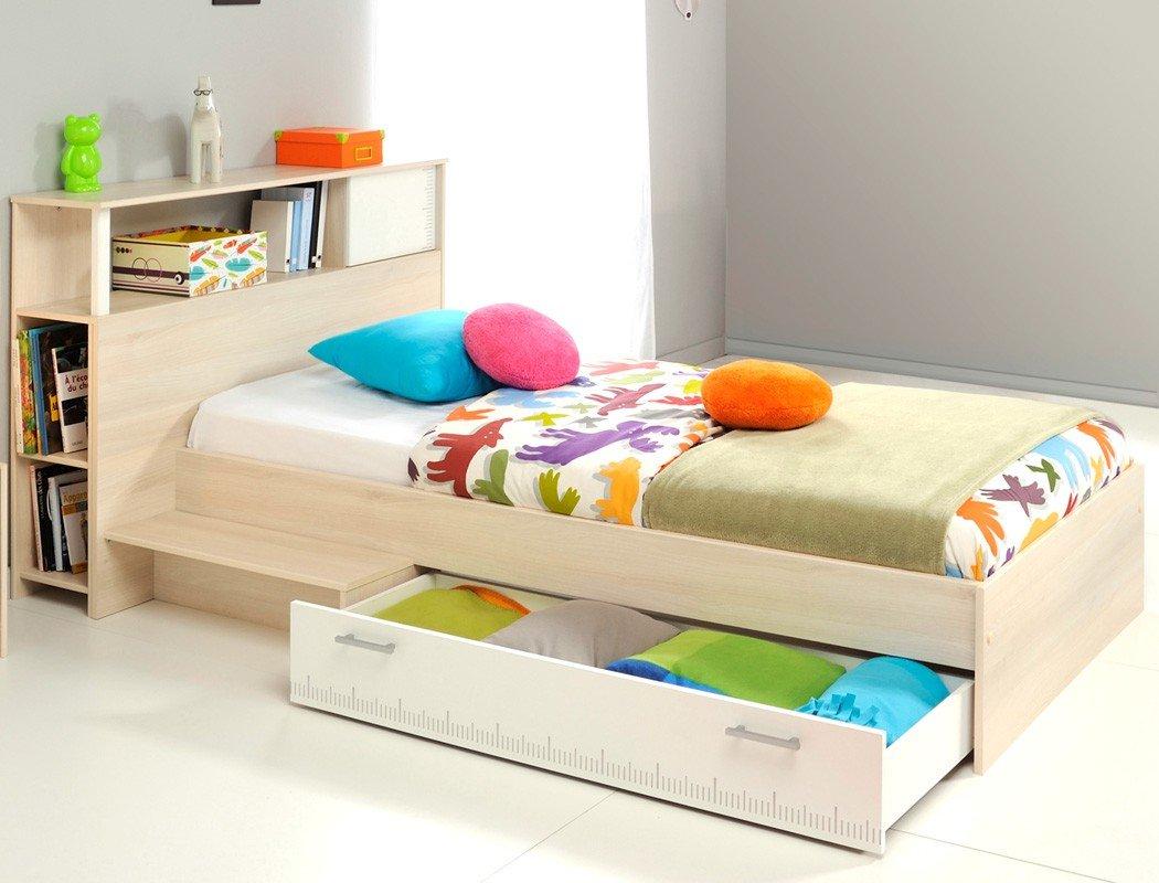 Jugendbett Chiron 19 Akazie Nb 90×200 Regal Anstellregal Jugendzimmer Kinderzimmer Kinderbett Bettkasten günstig