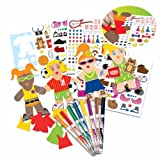 RoseArt Paper Doll Creations Activity Kit, Packaging May Vary
