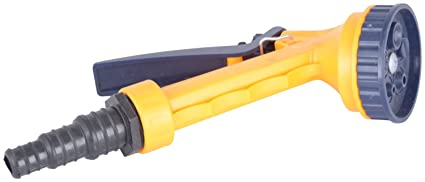 Flora 5  pattern nozzle water Sprinkler  Spray Gun ,Yellow  available at Amazon for Rs.260