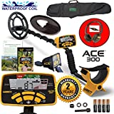 Garrett ACE 300 Metal Detector with Waterproof Search Coil and Carry Bag