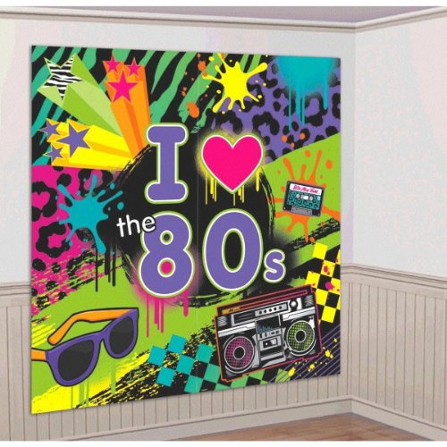 1980s Giant Wall Poster Decoration Kit