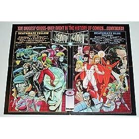 1993 Acclaim Valiant Comics Universe Superheroes vs Image Comics Heroes Deathmate Crossover 22 by 17