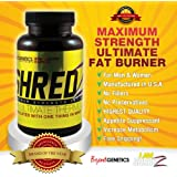 Weight Loss Pills SHREDZ, Maximum Strength Fat Burner Pills Dietary Supplement with Appetite Suppressant for Men & Women. Metabolism boosting fat burning weight loss pills.60 capsules