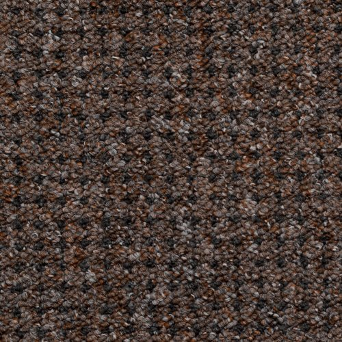 Cognac Brown Carpet with Anthracite Black Dots, Feltback Hardwearing Berber Loop Pile