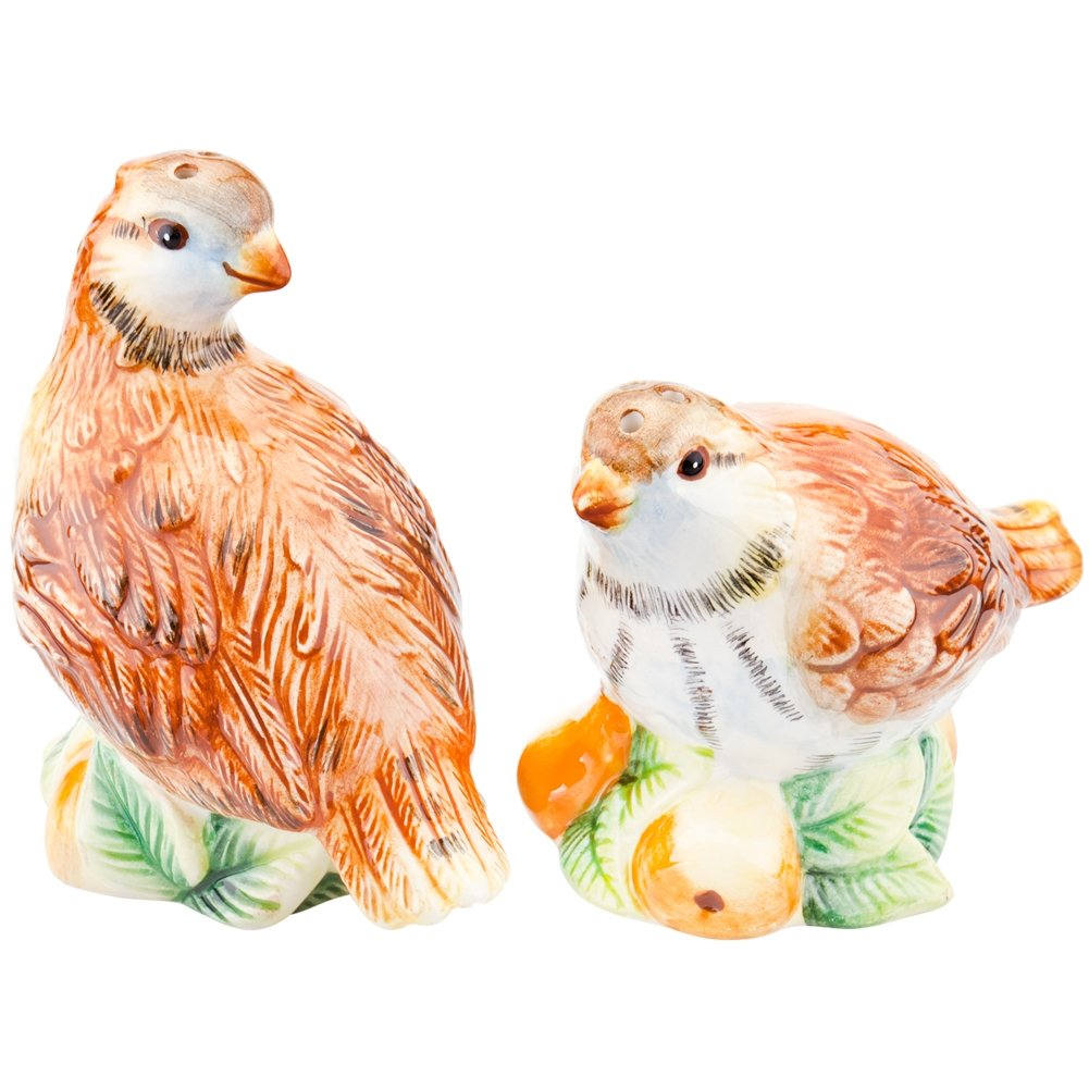 Charles Sadek Import Co - Partridges Sitting on Pears Salt & Pepper Shakers