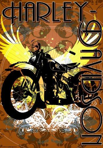 Russ Berrie 644574 Harley-Davidson Vintage Bike Garden Flag