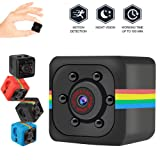 Ruimin 1PC Tiny Camera Mini Hidden Camera 720P with Night Vision and Motion Detection Security Camera (Color: black)