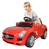 Goplus Kids Ride on Car Drivable Mercedes Benz Electric/ Battery Power with MP3 Perfect for Childs (Color: Red, Tamaño: kids electric car)