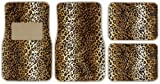 Impulse Merchandisers 44066 Fashion Leopard Carpet Floor Mat Set - 4 Piece