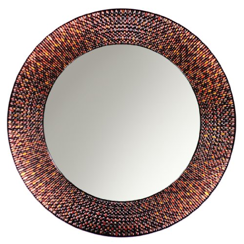 Head West Amber Mosaic Circle Mirror, 29-Inch Diameter front-577740