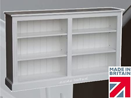 100% Solid Wood Bookcase, 3ft x 5ft Split White Painted Adjustable Display Shelving Unit. No flat packs, No assembly (BK7S)