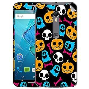 Theskinmantra Pumpkins and skulls Motorola Moto X Style mobile skin