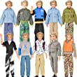 E-TING® 3 Set Long Sleeve Shirt Outfit Clothes Trousers For Ken Dolls