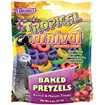 F.M.Brown's 44910 Tropical Carnival Baked Pretzels Treat for Pet Birds, 2-Ounce, 1 Pack