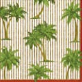 Entertaining with Caspari Palms Paper Cocktail Napkins, Gold, Pack of 20