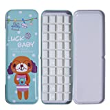 Fclub Watercolor Tins Palette Paint Case with 40Pcs Half Pans Carrying Magnetic (Tamaño: Cute Dog with 40pcs half pans)