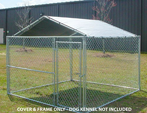 King-Canopy-Dog-House-Kennel-Cover-10-by-10-Feet-Silver