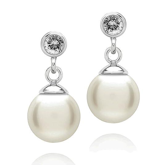 Ponte Povello Stud earrings Sterling Silver Zirconia white 60501037