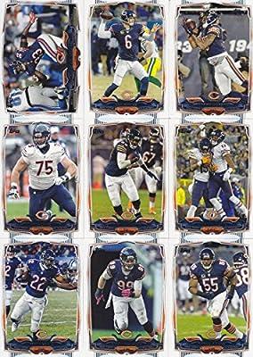 Chicago Bears 2014 Topps NFL Football Complete Regular Issue 15 Card Team Set Including Jay Cutler, Matt Forte, Brandon Marshall, Jared Allen Plus
