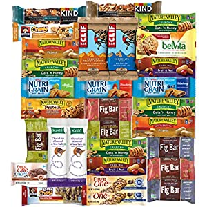 Custom Varietea Healthy Bars Variety Pack with Recipes,30 Count