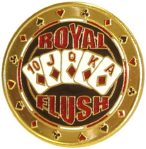 Why Choose The Trademark Royal Flush Card Guard Poker Button Gold