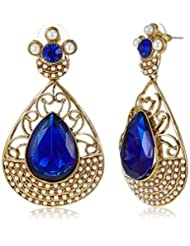 Poetry Accessories Pearl Drop Earrings For Women (Gold) (PMER-039)
