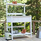 Coral Coast Gardener's Choice White Wash Potting Bench