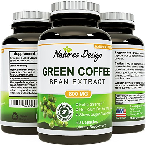 Pure Green Coffee Bean Extract - Highest Grade & Quality Antioxidant GCA (Standardized to 50
